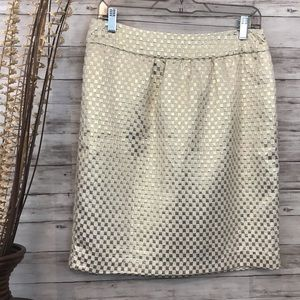 ECI New York Gold Metallic Skirt  Size 10